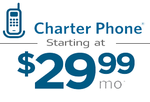 Charter Phone, internet, cable packages